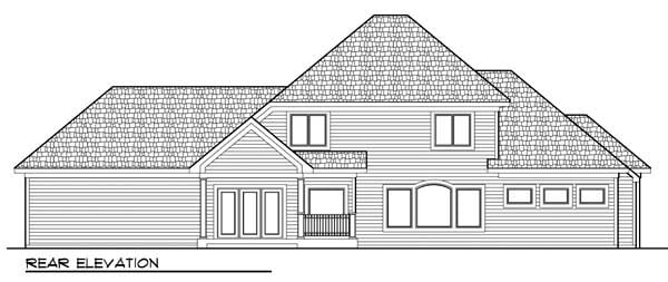 Country European House Plan 72954 Rear Elevation