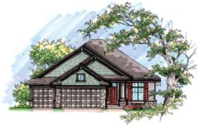 Country Craftsman Ranch House Plan 72956 Elevation