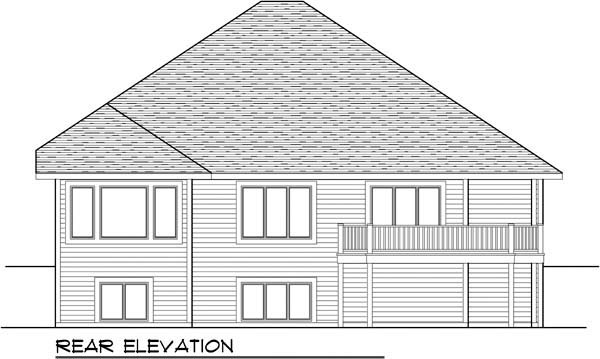 Country Craftsman Ranch House Plan 72956 Rear Elevation