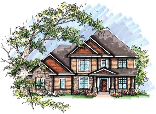 Country European Farmhouse Traditional House Plan 72957 Elevation
