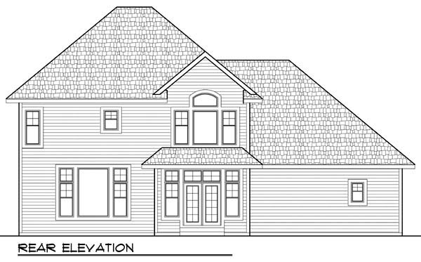 Country European Farmhouse Traditional House Plan 72957 Rear Elevation