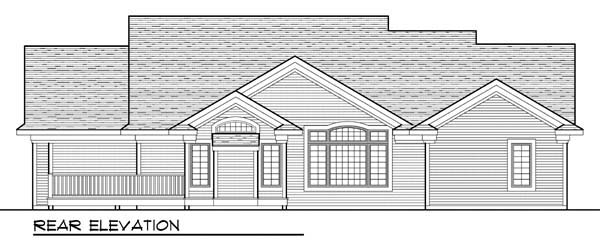 Ranch Traditional House Plan 72959 Rear Elevation