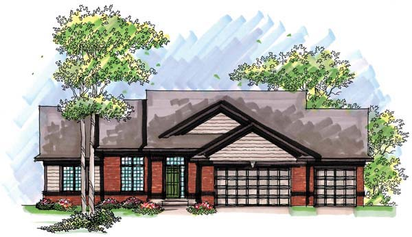 Ranch , Traditional House Plan 72960 with 5 Beds, 3 Baths, 3 Car Garage Elevation