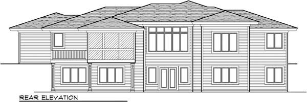 Prairie Style Southwest House Plan 72962 Rear Elevation