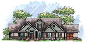 House Plan 72963 | Country, Craftsman, European, Ranch Style House Plan with 2492 Sq Ft, 2 Bed, 2 Bath, 3 Car Garage Elevation