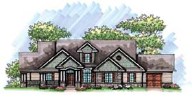 Craftsman European Ranch House Plan 72964 Elevation