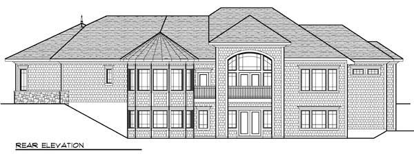 Coastal House Plan 72966 Rear Elevation