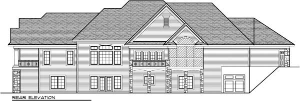 European Ranch House Plan 72968 Rear Elevation