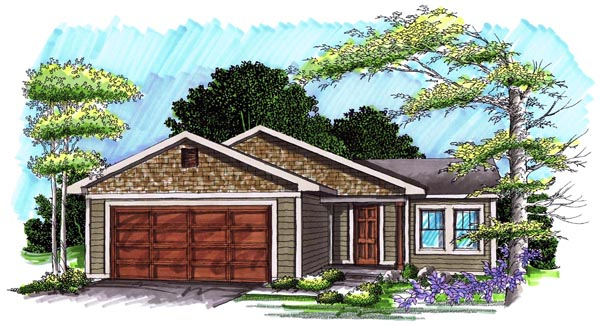 Ranch , Elevation of Plan 72972