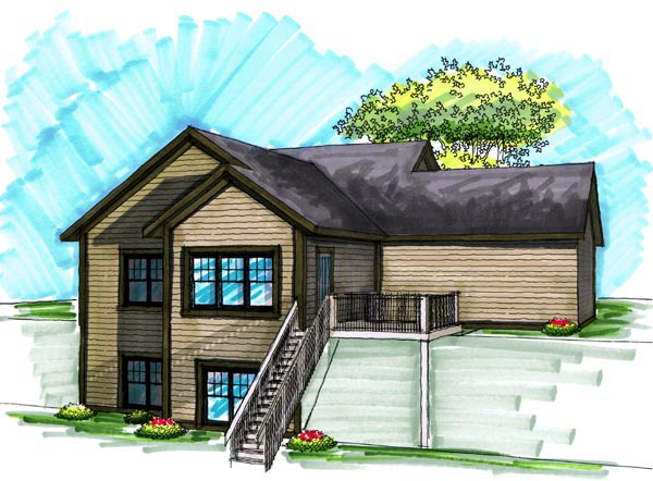 Bungalow Craftsman House Plan 72978 Rear Elevation