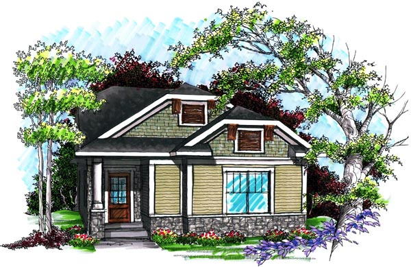 Ranch House Plan 72981 Elevation