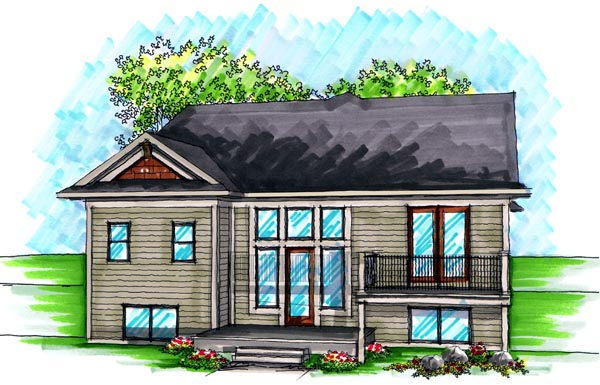 Ranch House Plan 72983 Rear Elevation