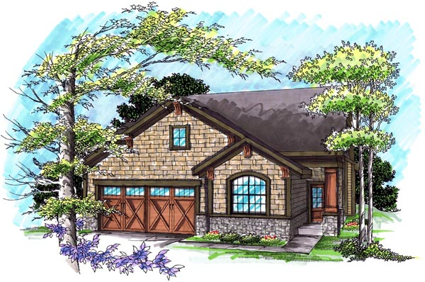 Ranch House Plan 72984 Elevation