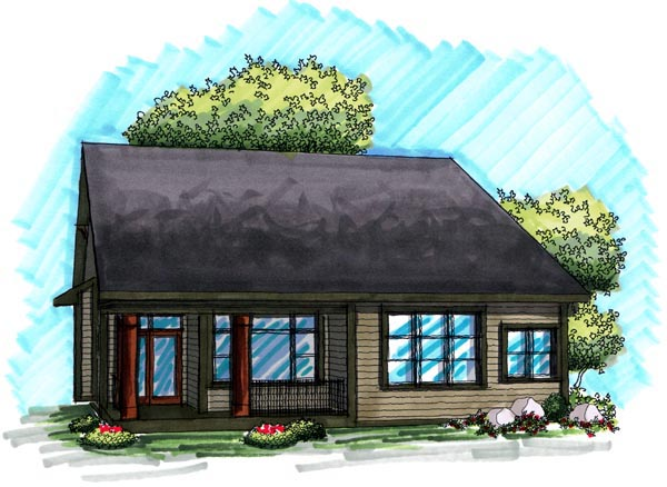 Ranch House Plan 72984 Rear Elevation