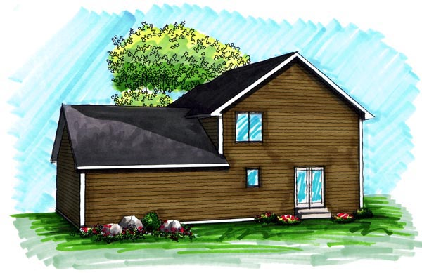Traditional House Plan 72985 Rear Elevation