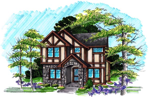 Traditional House Plan 72986 with 3 Beds, 3 Baths, 2 Car Garage Elevation