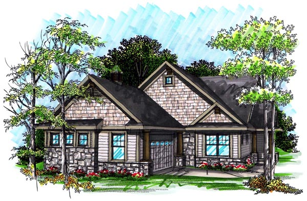 Ranch House Plan 72987 Elevation
