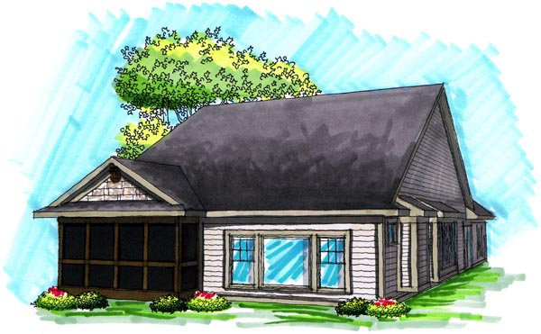 Ranch House Plan 72987 Rear Elevation