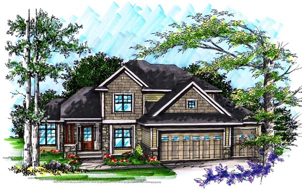 Craftsman Traditional House Plan 72990 Elevation
