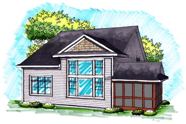 Traditional House Plan 72992 Rear Elevation