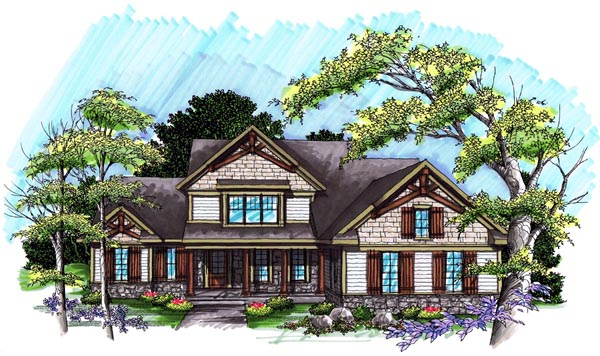 Traditional House Plan 72994 Elevation