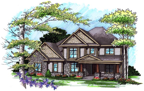 Traditional House Plan 72995 Elevation