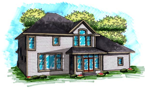 Traditional House Plan 72995 Rear Elevation