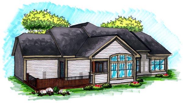 Ranch House Plan 72996 Rear Elevation