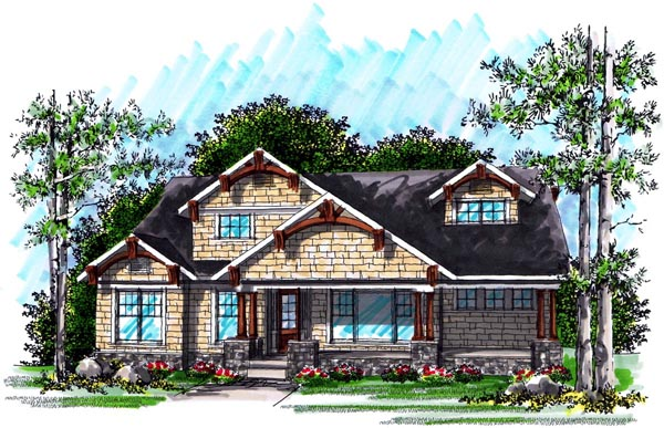 Cottage Craftsman House Plan 72997 Elevation
