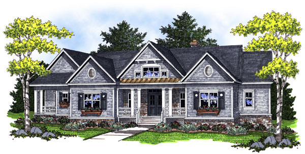 Traditional House Plan 73000 with 2 Beds, 2 Baths, 3 Car Garage Elevation