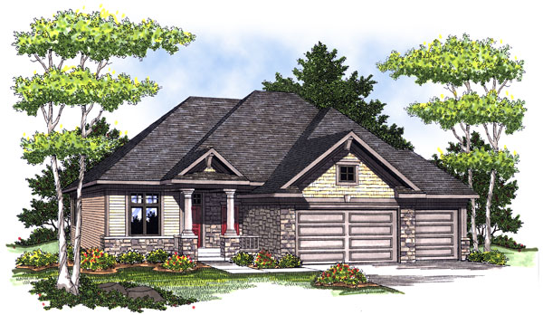 Bungalow Craftsman House Plan 73002 Elevation