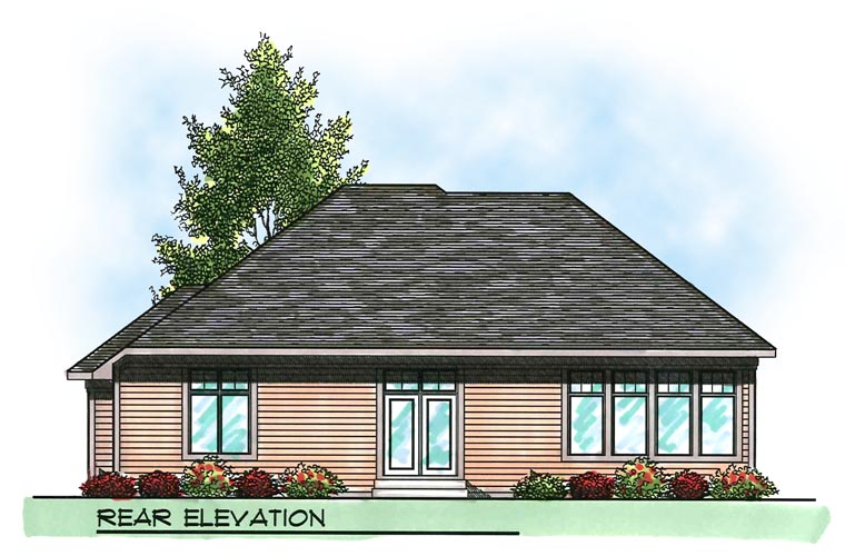 Bungalow Craftsman House Plan 73002 Rear Elevation
