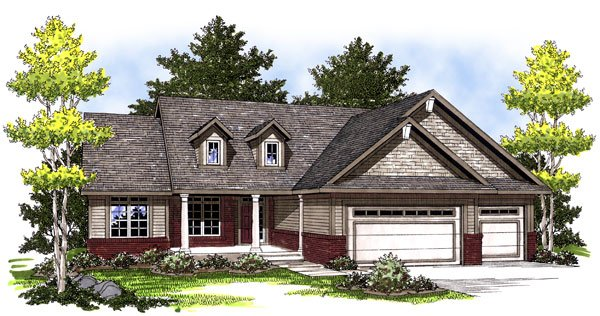 Country House Plan 73004 Elevation