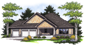 Bungalow Craftsman House Plan 73006 Elevation