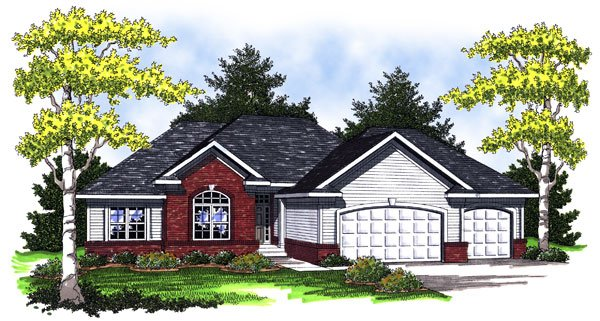 House Plan 73007 | European Style Plan with 1934 Sq Ft, 3 Bedrooms, 3 Bathrooms, 3 Car Garage Elevation