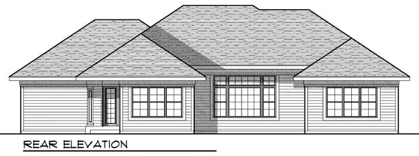 House Plan 73007 | European Style Plan with 1934 Sq Ft, 3 Bedrooms, 3 Bathrooms, 3 Car Garage Rear Elevation