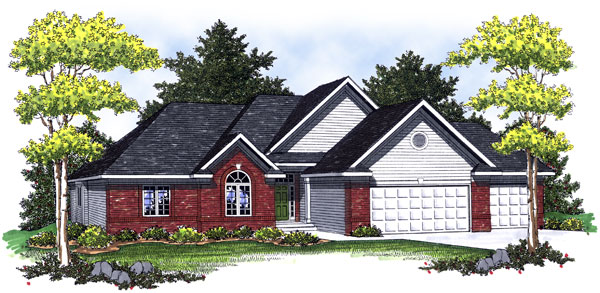 European Traditional House Plan 73008 Elevation