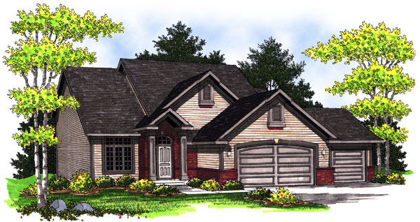 Traditional House Plan 73009 Elevation
