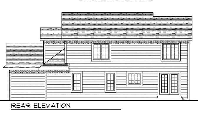 Traditional House Plan 73009 Rear Elevation