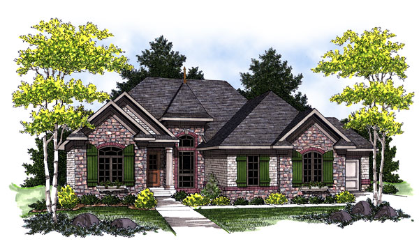 European House Plan 73016 Elevation