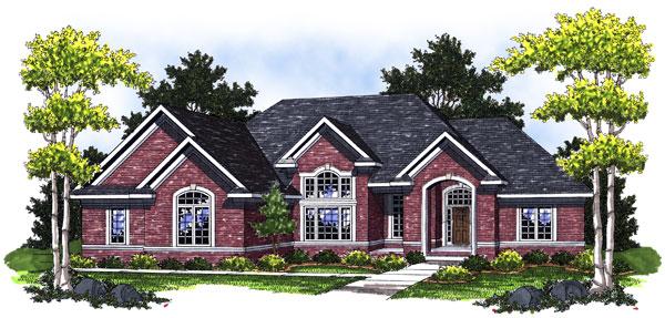 European Traditional House Plan 73017 Elevation