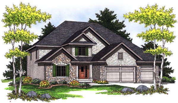 Traditional House Plan 73020 Elevation