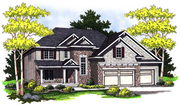 Bungalow , Traditional , Elevation of Plan 73021