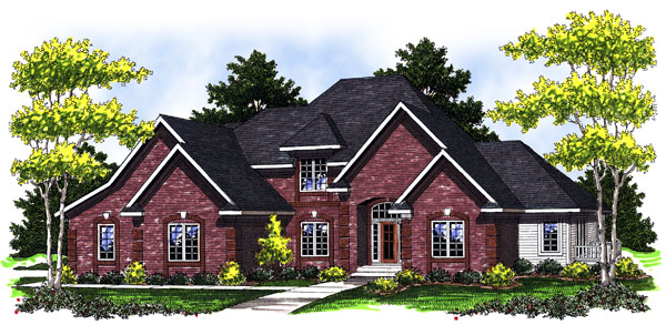 Traditional House Plan 73023 Elevation