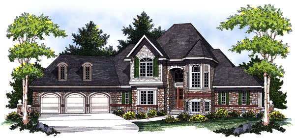 European House Plan 73026 Elevation