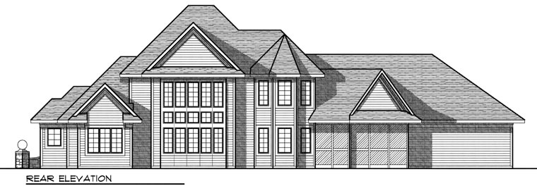 European House Plan 73026 Rear Elevation