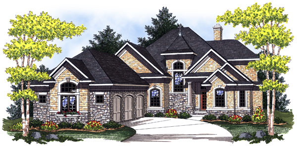European House Plan 73027 Elevation