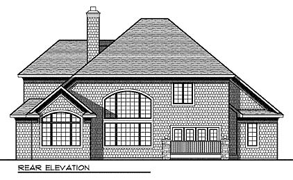 European House Plan 73027 Rear Elevation