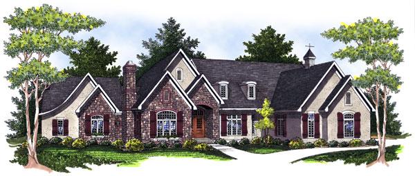 Tudor House Plan 73029 Elevation