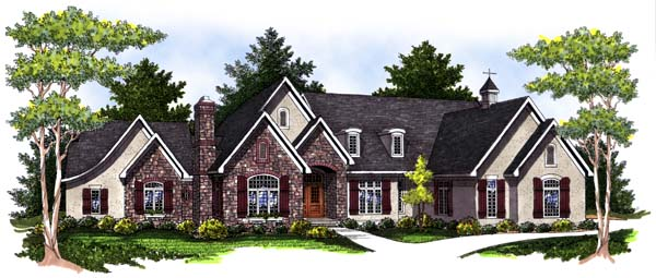 European , Tudor House Plan 73030 with 4 Beds, 6 Baths, 3 Car Garage Elevation